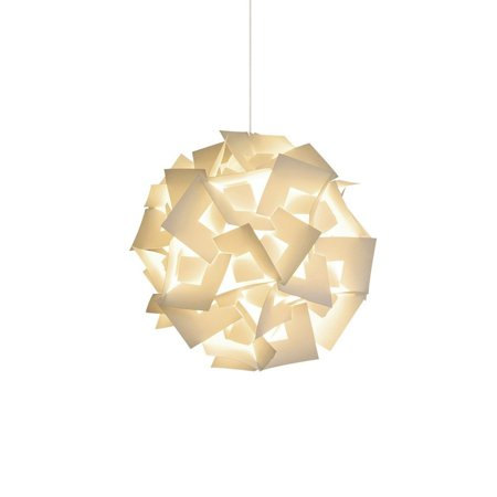 """Akari Lanterns Small Squares 12"""" wide , Warm White Glow, Modern & Unique Ceiling Hanging Light Fixtures / Swag Plug in or Hardwire as Pendant Lamp Shade - Spiral bulb included, Easy to install"""