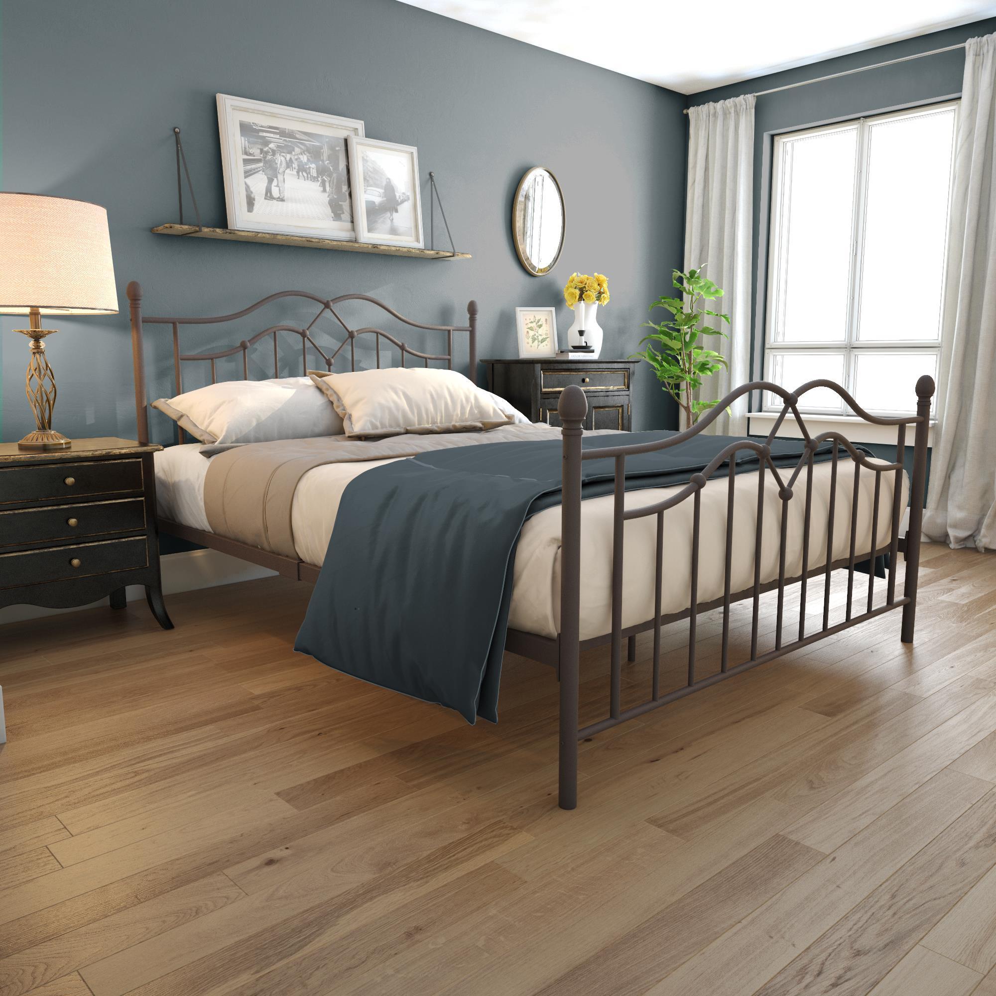 DHP Tokyo Modern Metal Bed Frame, Bronze, Multiple Sizes