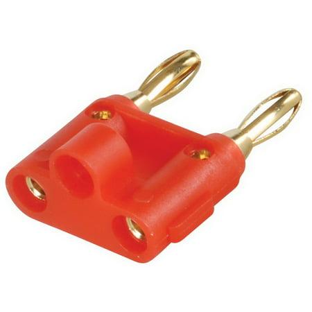 Gold Plated Dual Banana Plug Red