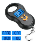 EEEkit Backlit LCD Display Fishing Scale, Portable Electronic Balance Digital Fish Hook Hanging Scale with a Stainless Steel Hook - Weight Scale 110lb/50kgs, Fish Scale, Hanging Scale