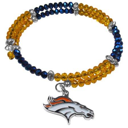 Crystal Memory Wire Bracelet - NFL Denver Broncos Memory Wire Crystal Bracelet