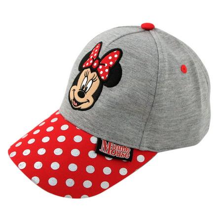 Jersey Cap (Disney Minnie Mouse Heather Jersey Baseball Cap, Little Girls, Age 4-7)