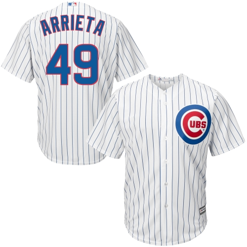 Chicago Cubs Jake Arrieta Majestic Official Cool Base Player Jersey - White