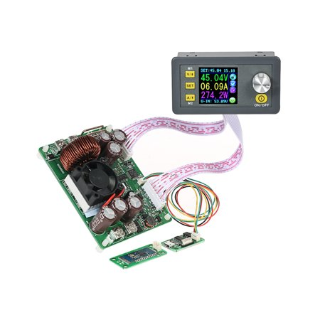 LCD Digital Programmable Control Buck-Boost Power Supply Module Constant Voltage Current DC 0-50.00V/0-20.00A Output Communication Version + Bluetooth Board