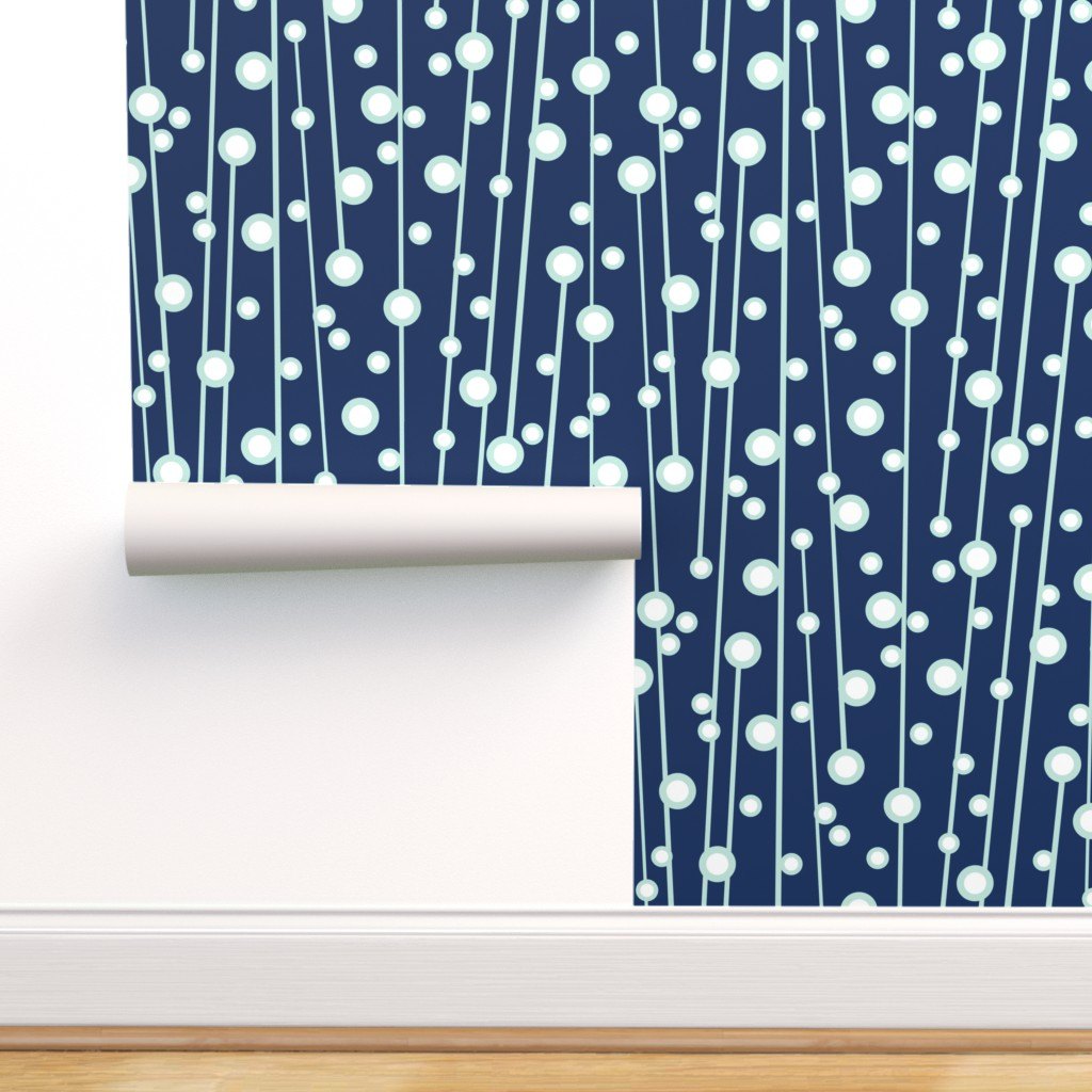 Peel-and-Stick Removable Wallpaper Geometric Berry Branch ...