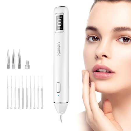 Mole Removal (Xpreen Dot Mole Remover Pen,Skin Tag Remover Dark Spot Remover Freckle Tattoo Wart Mole Removal Tool With LED Screen and Spotlight)