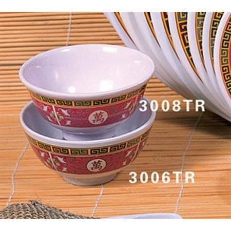 Thunder Group Asian Melamine Longevity Rice Bowl, 3 3/4 inch - 24 per case.