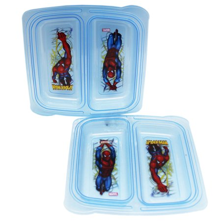 Marvel's The Amazing Spider-Man Reusable Plastic Food Containers (Red and - Halloween Spider Food Ideas