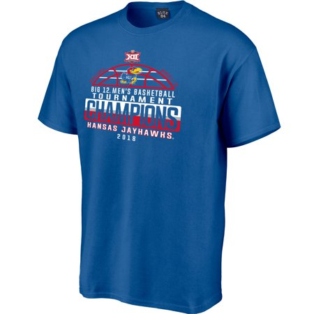 Kansas Jayhawks 2018 Big 12 Men's Basketball Conference Tournament Champions Locker Room T-Shirt - (Kansas State Basketball Jerseys)