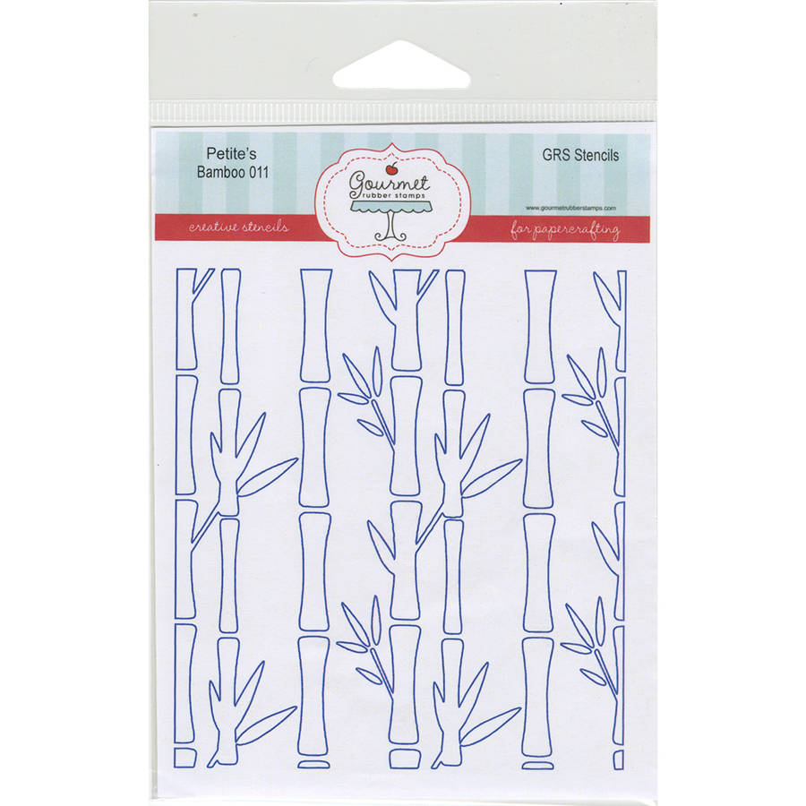 """Gourmet Rubber Stamps Petite Stencils 4.25""""X6.5""""-Bamboo"""