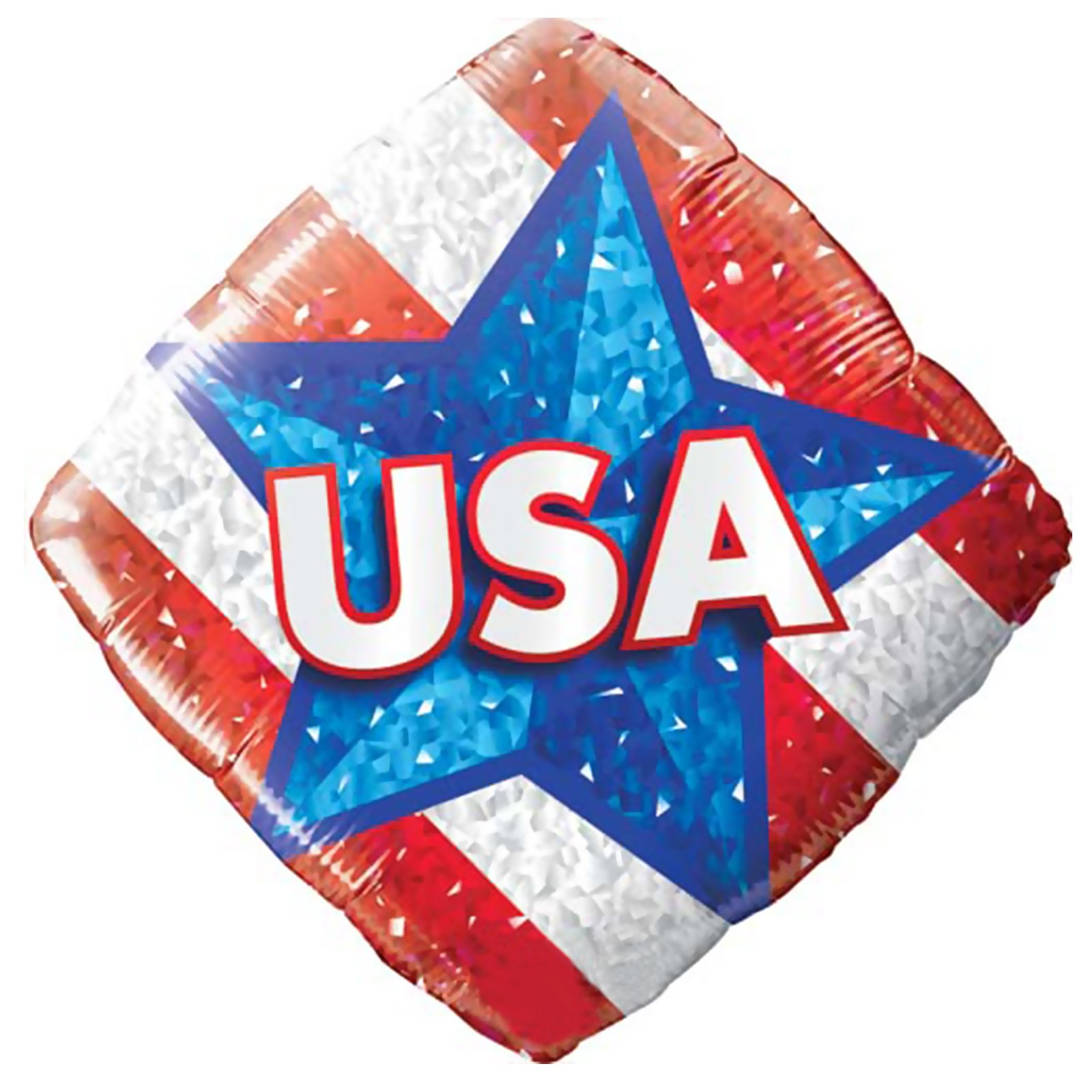 Qualatex 18in USA Diamond Shape 18 in Latex Balloons, Red White Blue