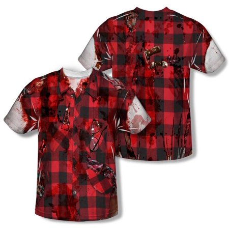 Halloween Cool Spooky Costume Zombified Lumber Jack Adult 2-Sided Print T-Shirt