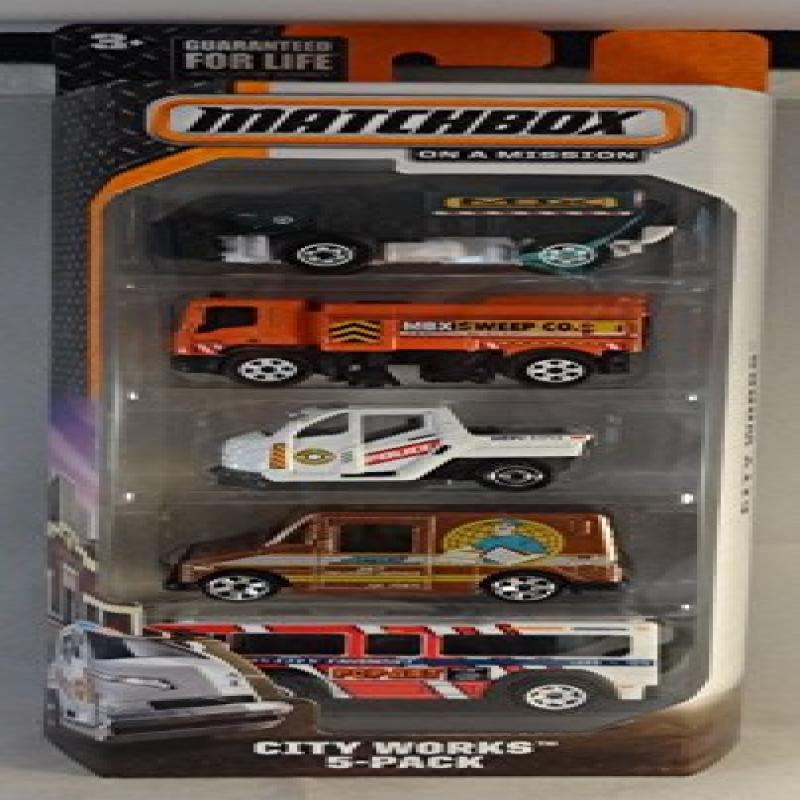 Matchbox, 2015 On a Mission, City Works 5-Pack by