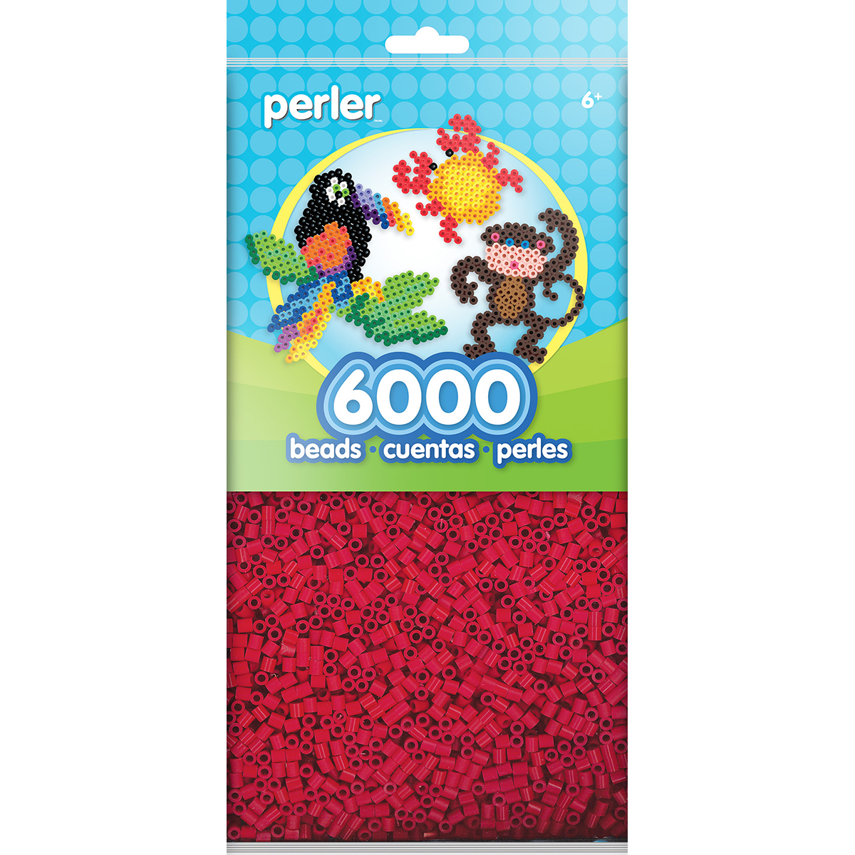 Perler Beads 6,000/Pkg-Red