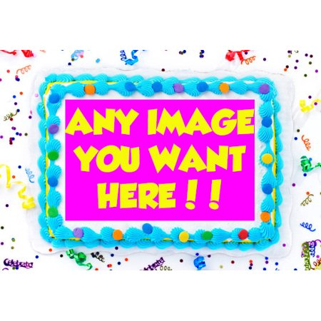 Your Photo Edible Cake Image Topper Logo Frosting Sheet 1/4 Sheet
