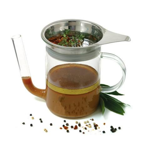 Norpro 4 Cup Gravy Oil Fat Separator W Strainer 4 Cups/ 1 Liter Comfortable -