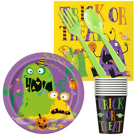 Snack Food Ideas For Halloween (Silly Halloween Monsters Snack Pack For)