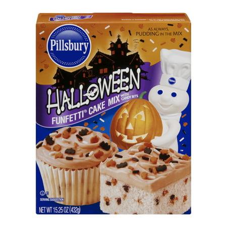 (4 Pack) Pillsbury Halloween Funfetti Cake Mix, 15.25 oz - Halloween Nightcore Mix
