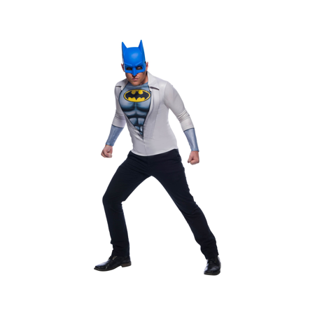 Mens Photo Real Batman Halloween Costume Top