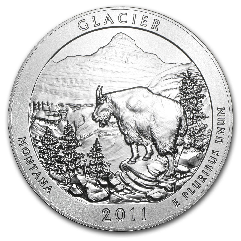 2011-P 5 oz Silver ATB Glacier (w/Box & COA)