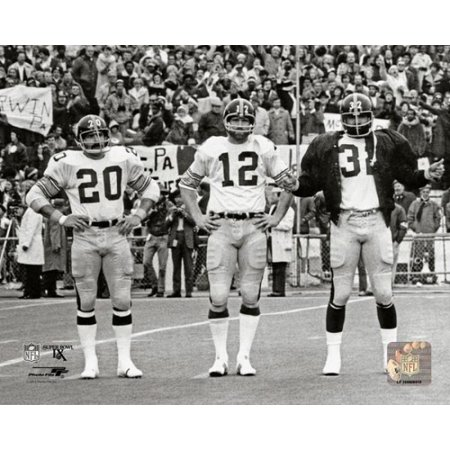 Franco Harris Terry Bradshaw   Rocky Bleier Super Bowl Ix Photo Print