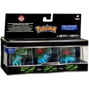 "Pokemon Trainer's Choice 2"" Mini Figure 3-Pack: Bulbasaur, Ivysaur and Venusaur"