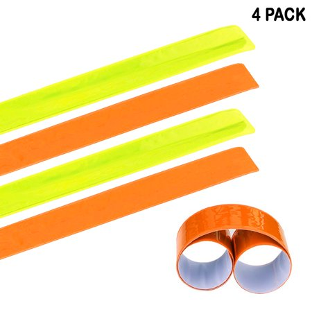 Gear For Night Running (4 Pack Reflective Bands Running Gear Adjustable Arm Wrist Ankle Leg Safety)