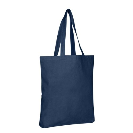 Wholesale Cotton Tote Bags with Bottom Gusset | TG110 - Set of 6, Navy](Wholesale Totes)