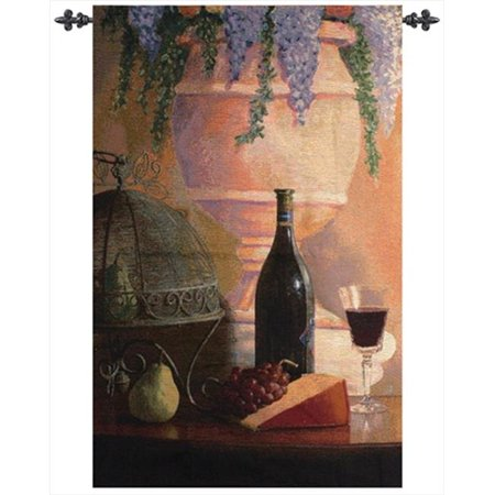 Sunday Afternoon Tapestry (An Elegant Afternoon Tapestry Wall Hanging Vertical 35 X 53 in.)