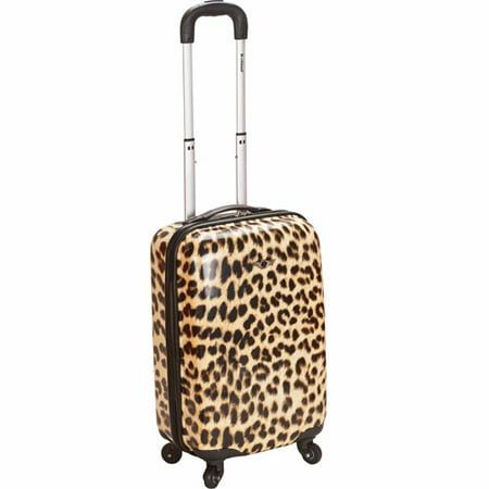 "Rockland Sonic 20"" Carry On Spinner Suitcase - Leopard"