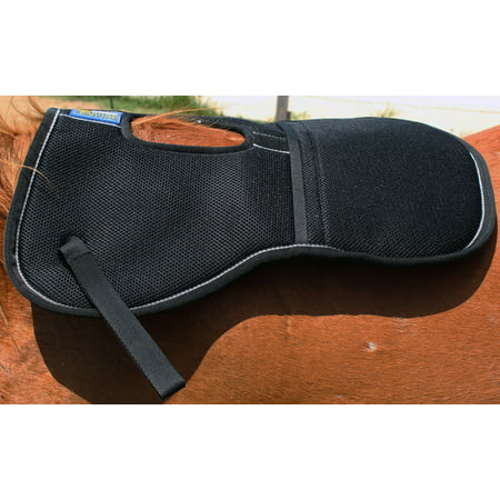 Horse Trail English Memory Foam Saddle Wither Relief Half Pad Black