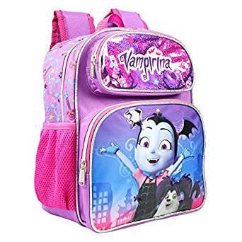 "Small Backpack Disney Vampirina Bat Purple 12"" Bag 001889 by Ruz"