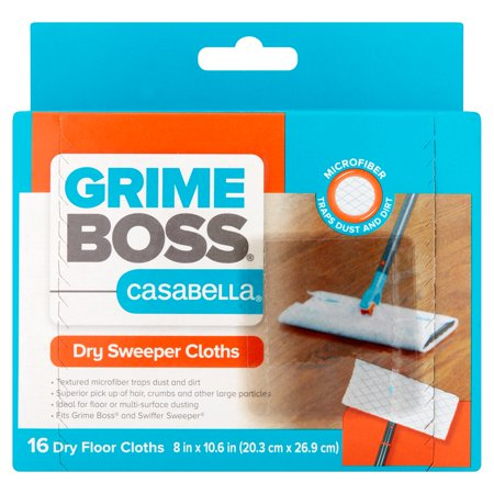 Grime Boss Casabella Dry Sweeper Cloths, 16 count