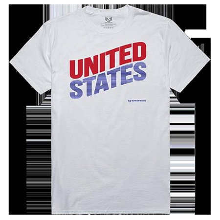 Rapid Dominance RS1-009-WHT-04 United States Graphic Tee, White - Extra Large - image 1 de 1