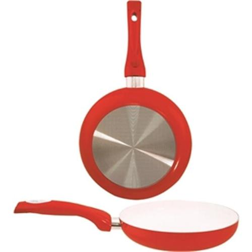 Dura-Kleen Usa, Inc.  8124-RD 9. 5 inch Ceramic Coated Fry Pan, Red