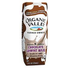 Organic Valley Good to Go 1% Lowfat Chocolate Milk, 11oz