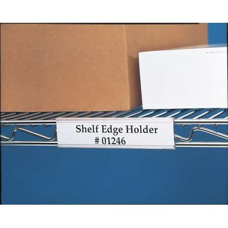 HOL-DEX WR-1224 Index Wire Rack Label Holder, 24 in, PK6 Wire Rack Label Holders