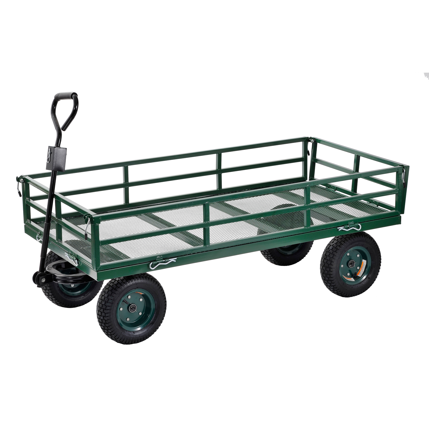 "Sandusky 60"" x 31"" Heavy-Duty Jumbo Crate Wagon, Green by Generic"