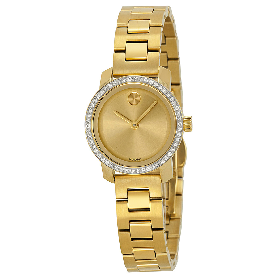 Movado Bold Champagne Dial Gold-tone Ladies Watch 3600215