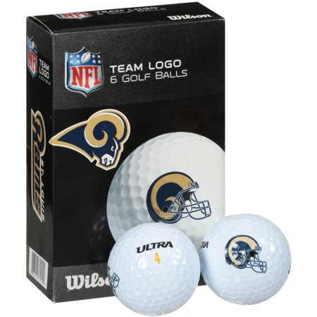 Wilson St. Louis Rams Golf Balls, 6 Pack