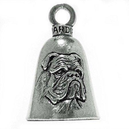 Guardian® Bulldog Breed Dog Motorcycle Biker Luck Gremlin Riding Bell or Key Ring ()