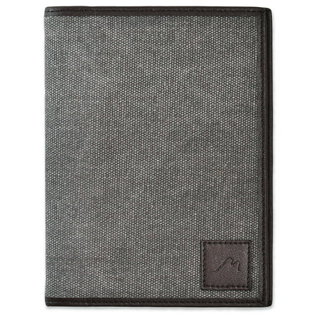 Metier Life Field Notes / Moleskine Pocket Notebook Cover - Canvas with Vegan Leather (Life Notebook)