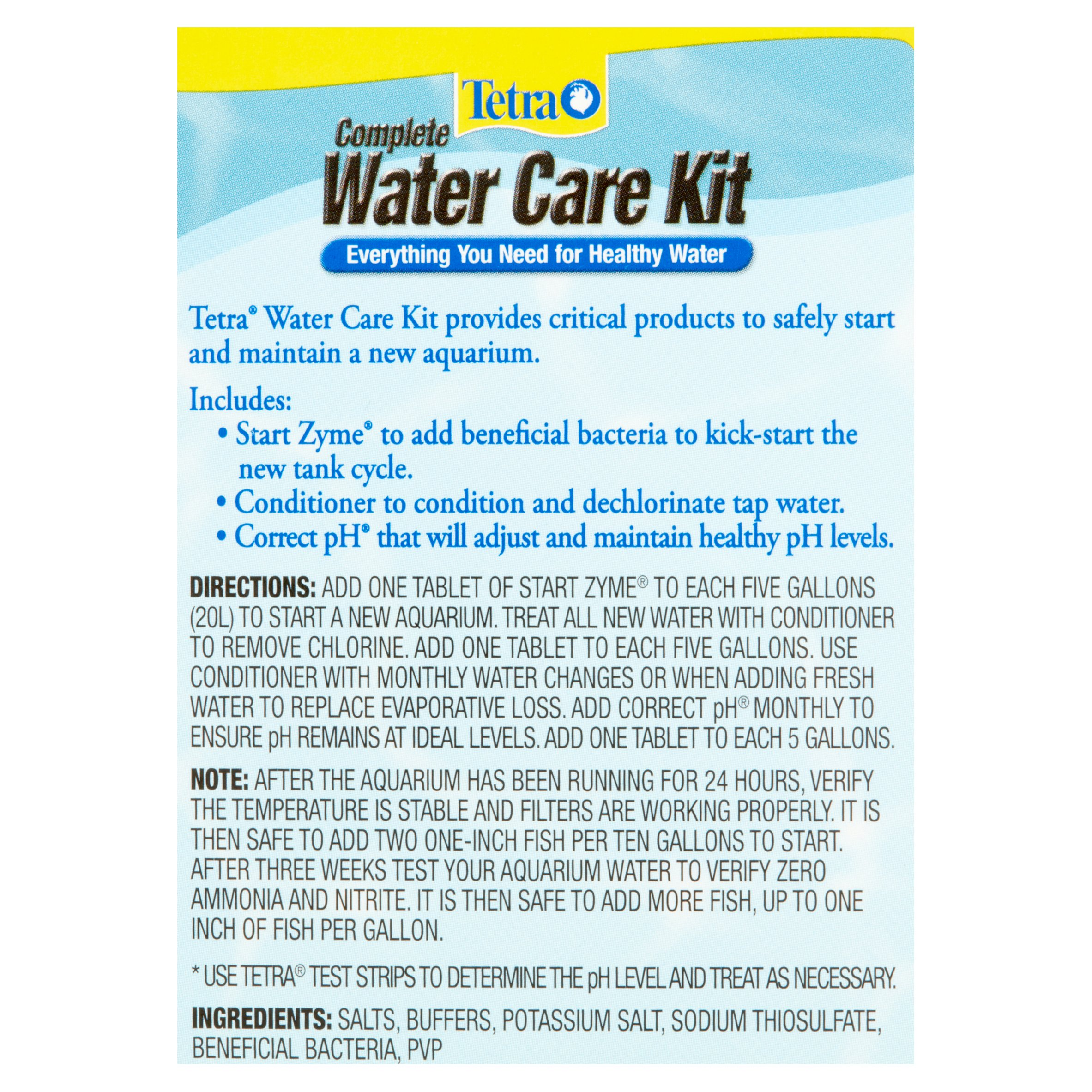 Tetra plete Water Care Kit with TetraCare 12 Count Walmart
