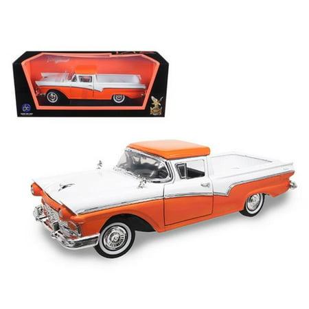 1957 Ford Ranchero Pickup Truck Orange 1-18 Diecast Model