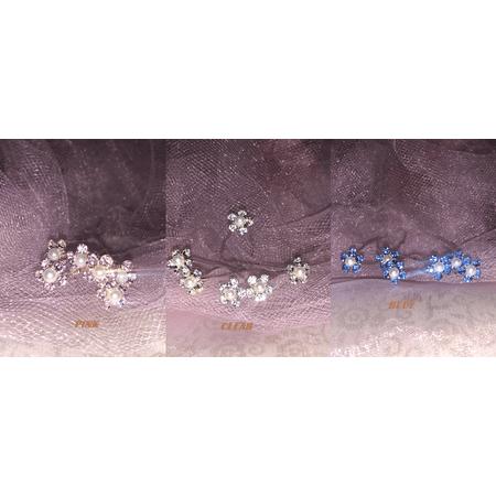Charmed Wedding Bridal Pearl Flower Crystal Hair Pins Bridesmaid Jewelry 1/2