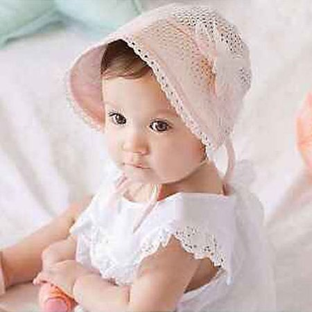 3868e897f13 BOOBEAUTY - Cute Toddlers Baby Girls Flower Princess Sun Hat Cap ...