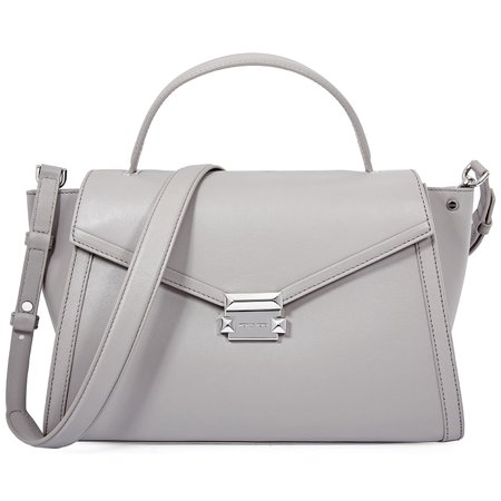 Pearl Gray Leather - Michael Kors Whitney Large Leather Satchel - Pearl Grey