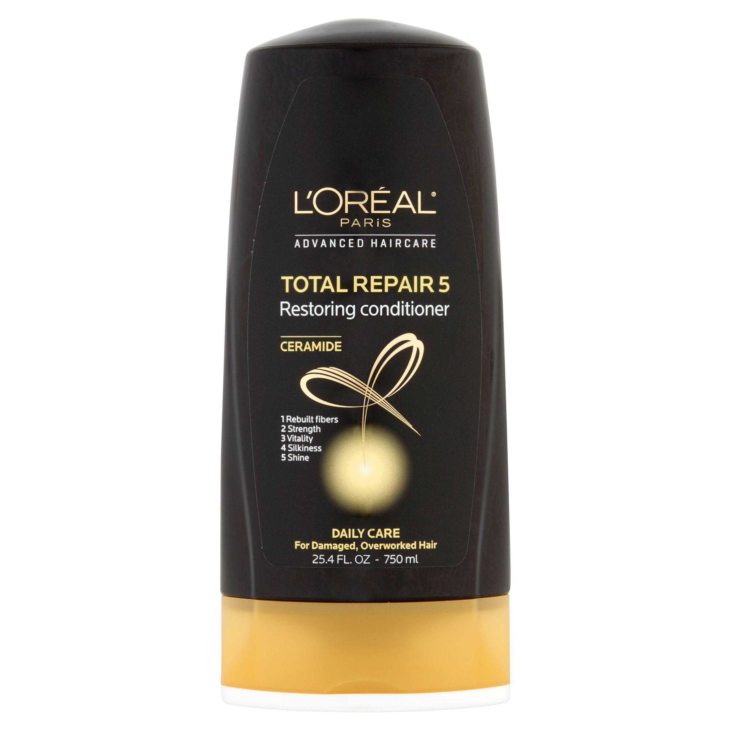L'Oreal Paris Advanced Haircare Ceramide Total Repair 5 Restoring Conditioner, 25.4 fl oz