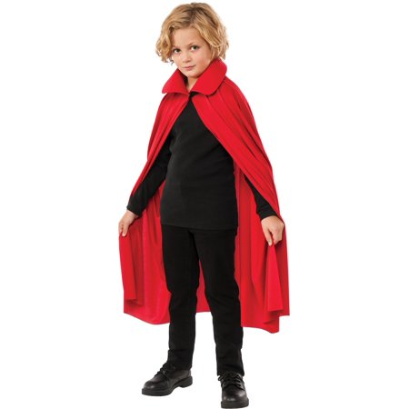 Cape with Collar Child 36 Inch Red - Kids Red Cape