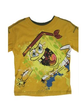 Little Boys Yellow SpongeBob SquarePants Print T-Shirt 4-7